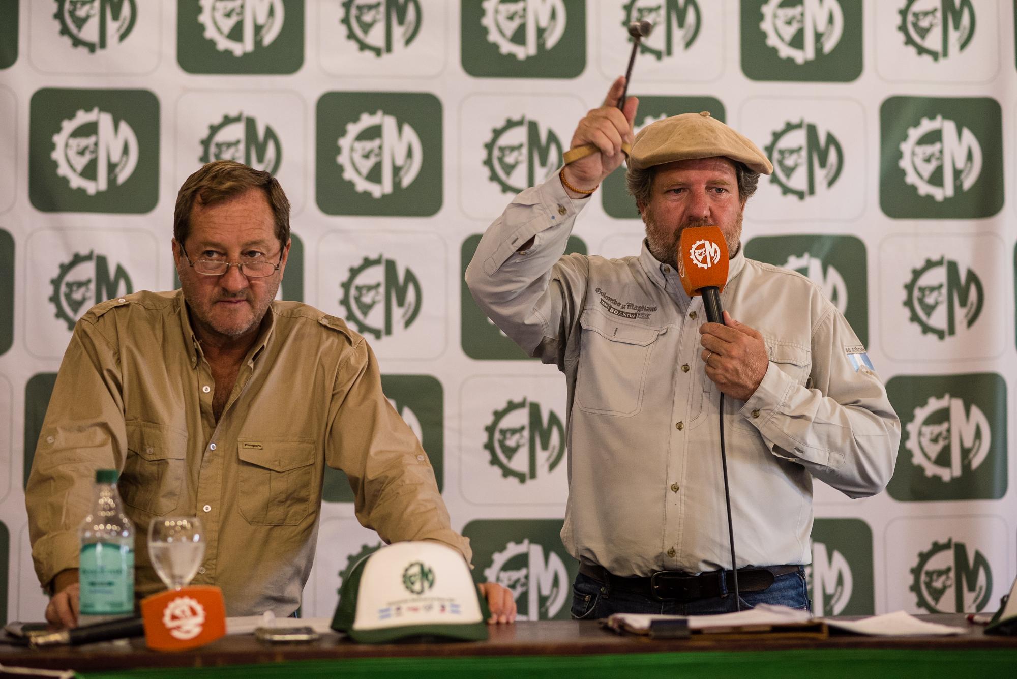 Colombo y Magliano levantó el martillo en la Exposición Nacional de Razas